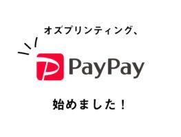 PayPayでの決済を始めました!